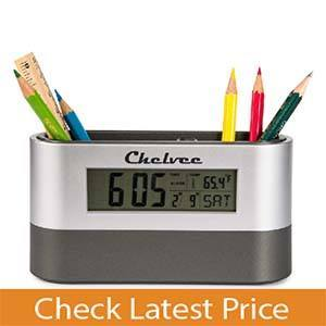 Chelvee Multi-functional Alarm Clock Pencil Holder