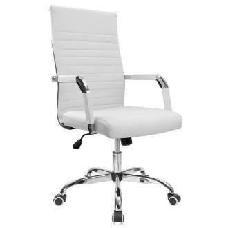 Furmax Office Desk Chair, Mid-Back Leather Executive Chair