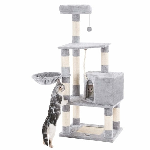 Best Cat Tree Under $100 - SONGMICS 58-Inch Cat Tree Condo Tower