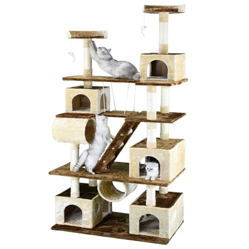 Best Cat Tree $100-$200 - Go Pet Club 87.5-Inch Huge Cat Tree Condo