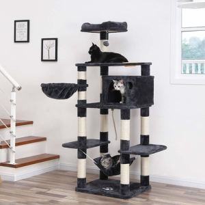 Best Cat Tree $100-$200 - Songmics 69-Inch Multi Level Cat Tree With Feeder Bowl