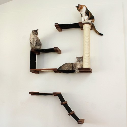 Best Cat Trees Above $200 - CatastrophiCreations Cat Mod Deluxe Fort Handcrafted Wall Mounted Cat Tree