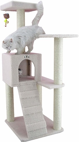 Best Cat Trees For Multiple Cats - Armarkat B5301 Ivory Cat Tree
