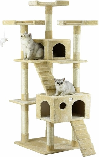 Best Cat Trees For Multiple Cats - Go Pet Club 72 Inch Cat Tree