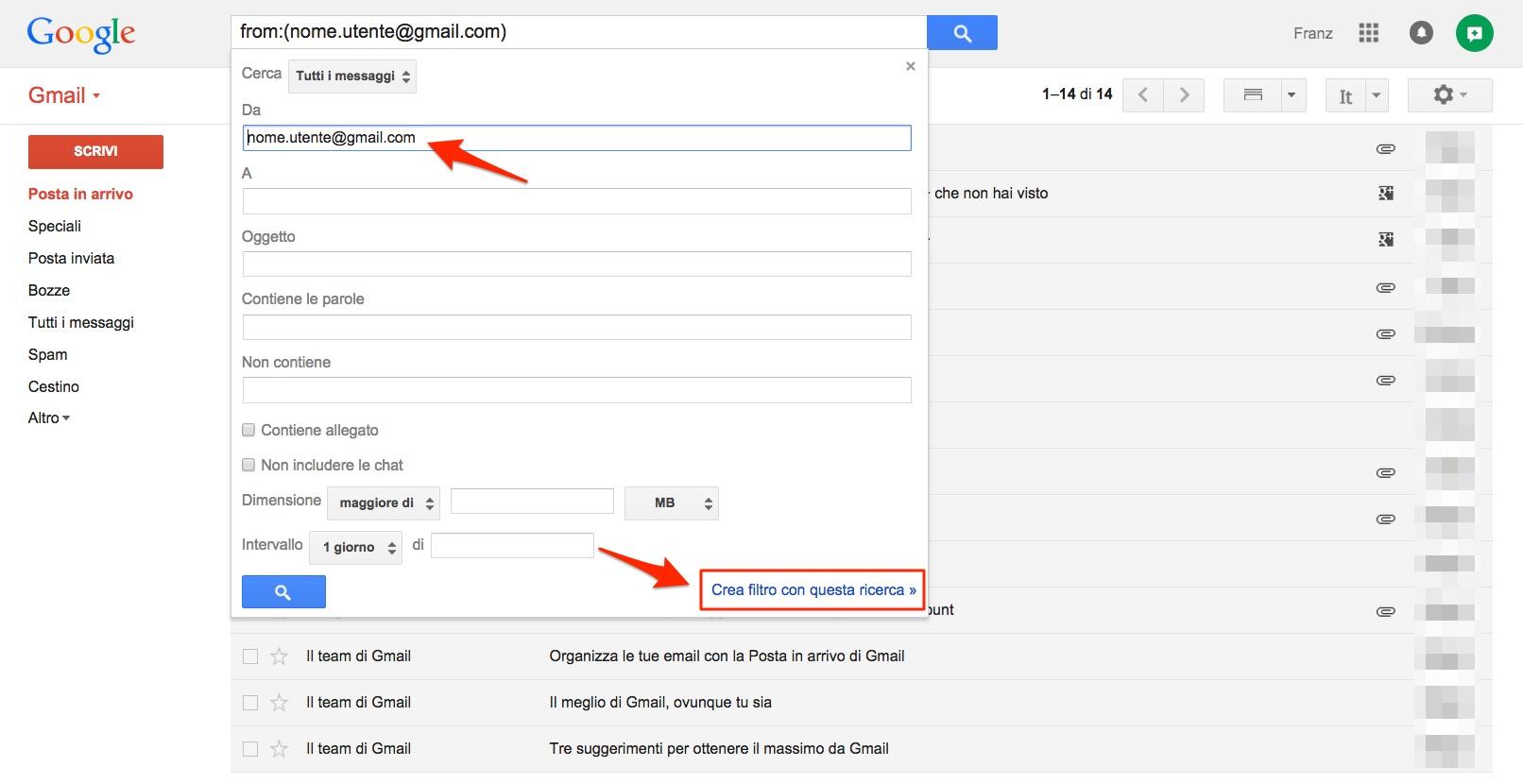 aa4a3e796ca3 In alternativa, è possibile creare un filtro specifico in Gmail, impostando  di non inviare mai a spam le email provenienti da questo indirizzo.