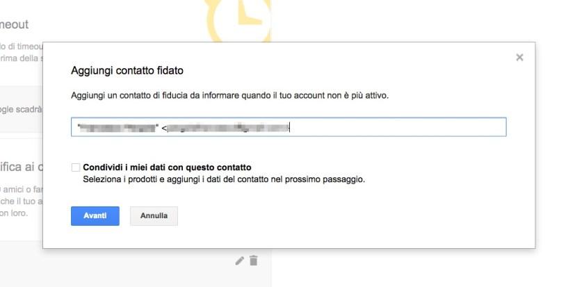 Gestione account inattivo Google