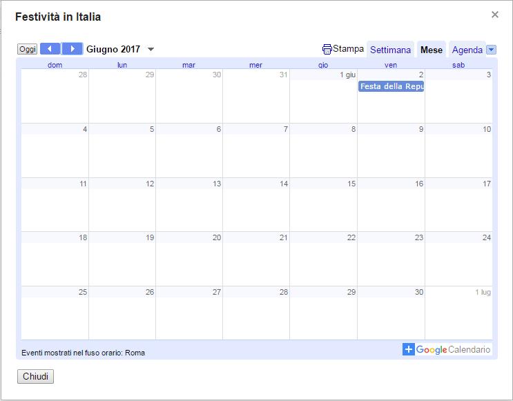 Anteprima calendario interessante