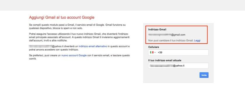 Riattivazione indirizzo Gmail