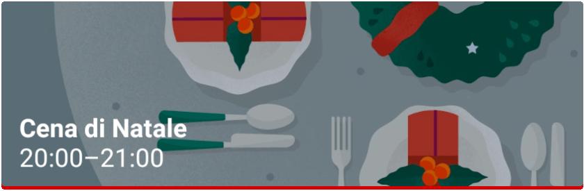 Cena di Natale Evento Google Calendar
