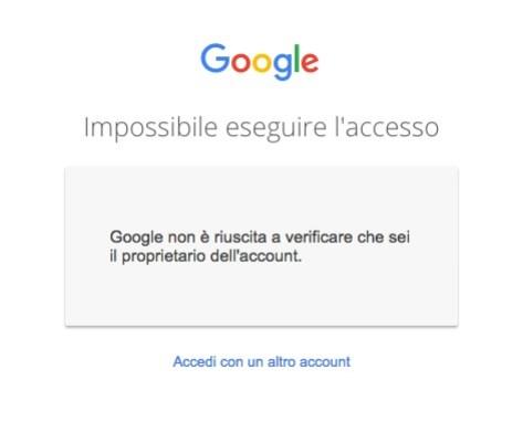 Recupero password Account Google