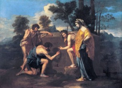 The 4 Arcadian Shepherds painting