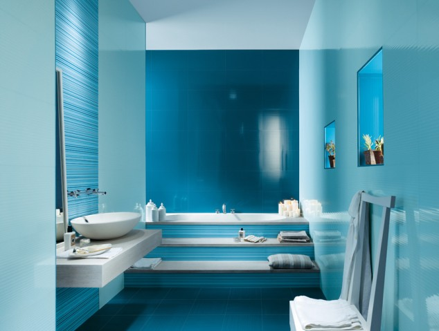 Beautiful Design Of Tiles For The Bathroom
