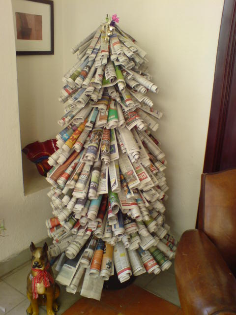 Christmas Tree Source 20 Cute Diy Newspaper Decoration Ideas