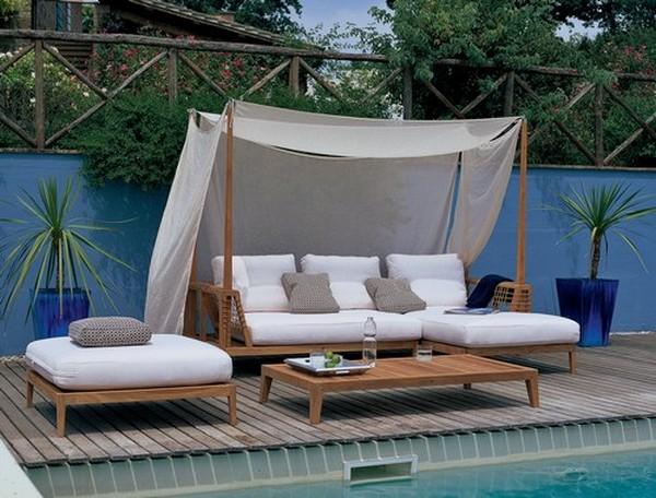 Modernos diseños de camas al aire libre
