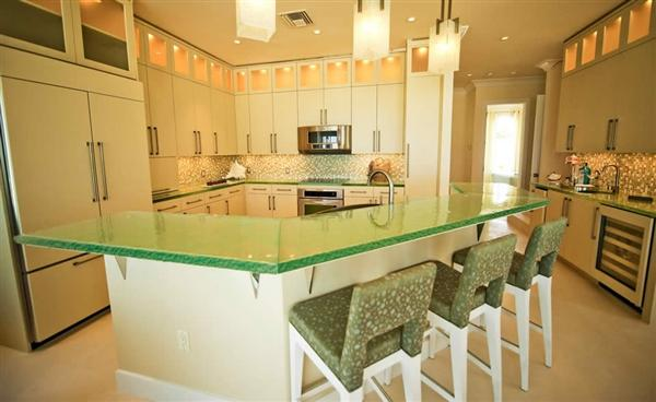 Modern Glass Kitchen Countertops