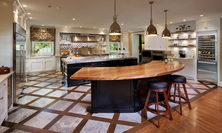 16 Impressive Curved Kitchen Island Designs