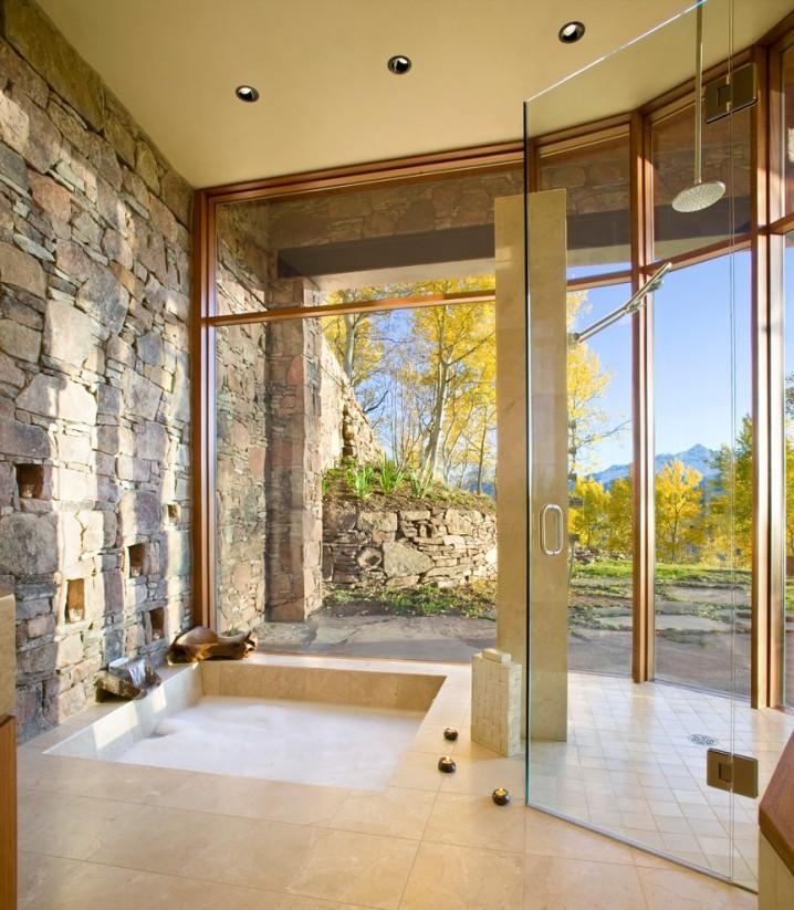 Modern Bathrooms With Sunken Bathtubs