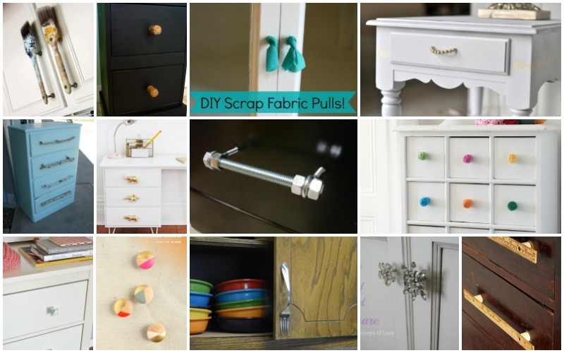 Low Cost DIY Drawer Pulls Knobs And Handles You Can Easily Make