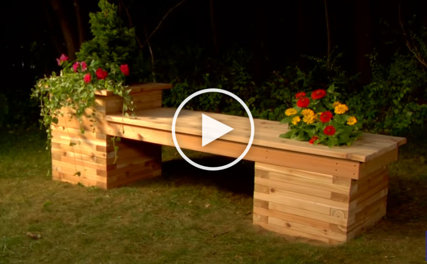 How To Build A Planter Bench For A Small Backyard