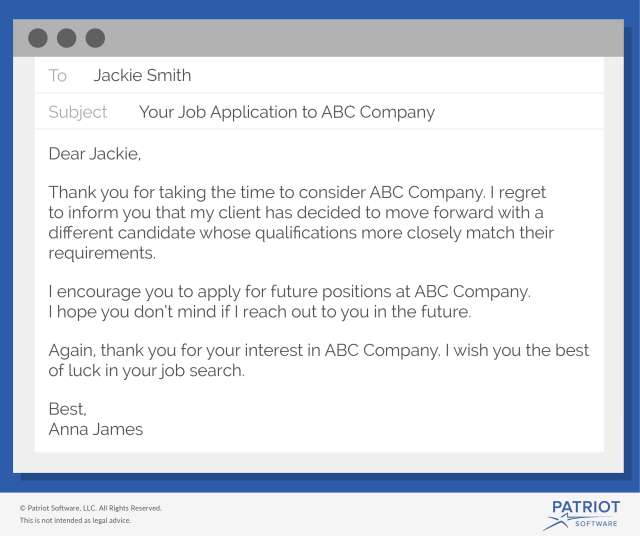 How to Write a Job Rejection Email  Sample & More