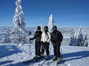 Skiers on a Mountan