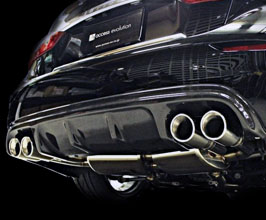 access evolution exs exclusive sport euror plus cat back quad exhaust system stainless for infiniti q50 hybrid sport rwd with vr35hr engine