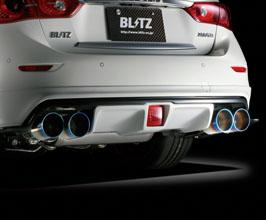 blitz nur spec vsr quad exhaust system for blitz diffuser stainless ti tips for infiniti q50 2015 2018