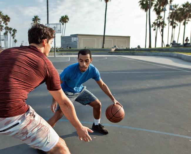 street basketball game