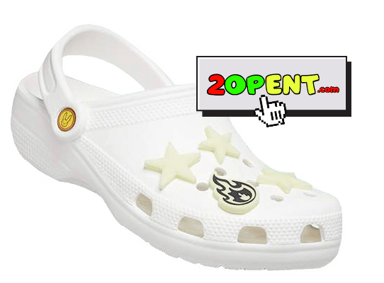 Bad Bunny White Green Glow In The Dark Limited Edition Crocs