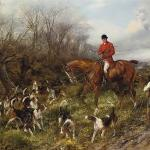 The Lost Scent Heywood Hardy Horse Riding Painting In Oil For Sale
