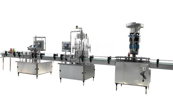 1 Liter Glass Bottle Filling Capping And Labeling Machine