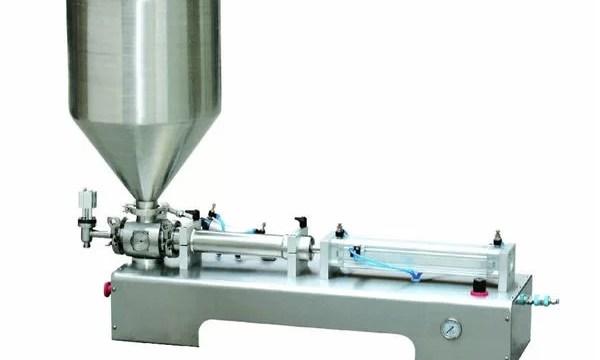 Semi-Automatic Calamine Lotion Paste/Liquid Bottle Piston Filling Machine