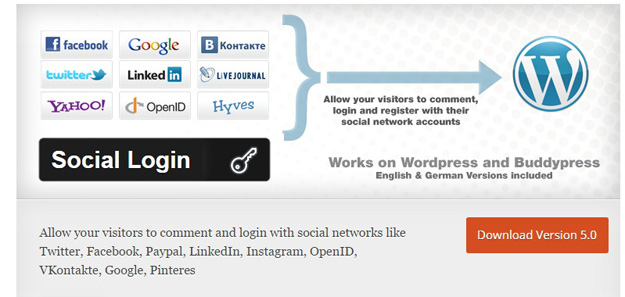 WordPress Social Login