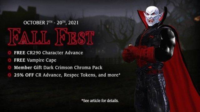 Festival de otoño en línea de DC Universe