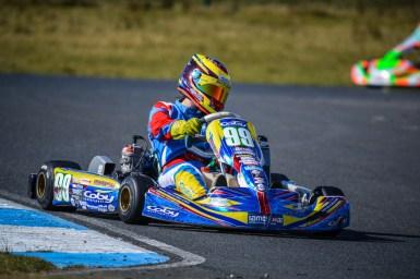 Alyx Coby at Round 1 of the Motorsport Ireland Karting Championship. Photo: Marc Quinlivan