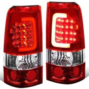 GMC Sierra 2500HD 20012006 LED Tail Lights Red Tube