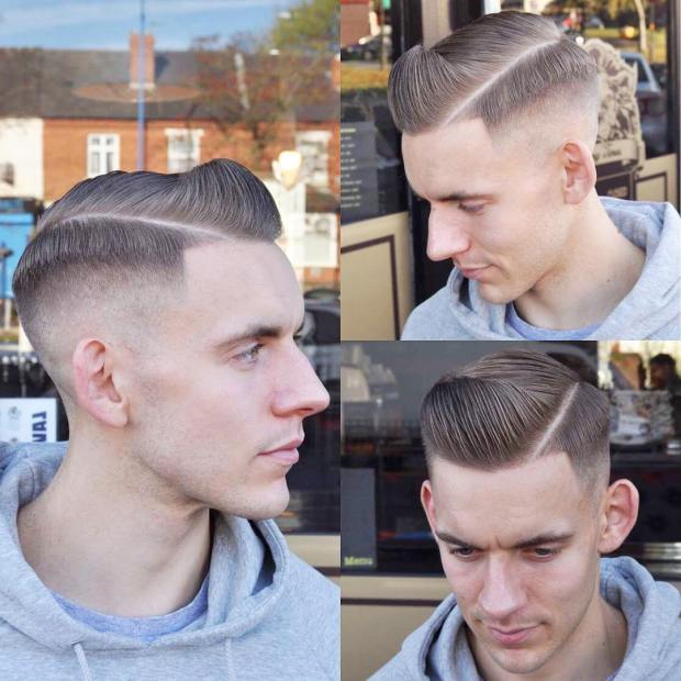 Crop Pompadour Short Hairstyle Men