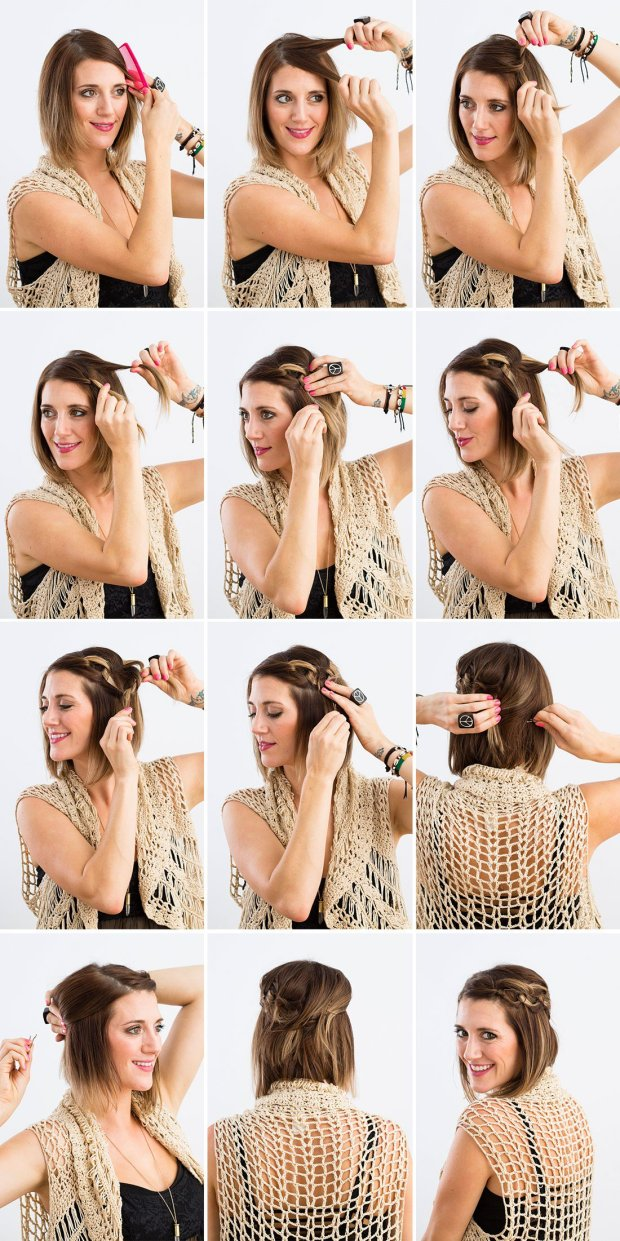 asy Hairstyles For Short Hair To Do At Home Step By Step Short Hairstyles Easy Hairstyles For Short Hair