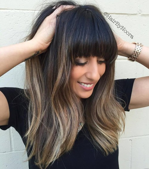 Long Hairstyles With Bangs 2018 9