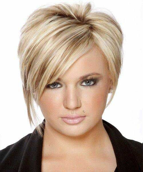 Short Hairstyles For Round Faces 2018 26