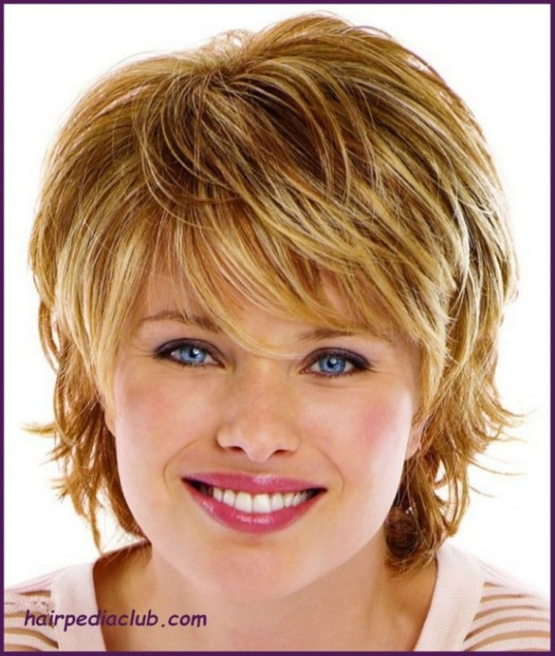 Short Hairstyles For Round Faces 2018 36