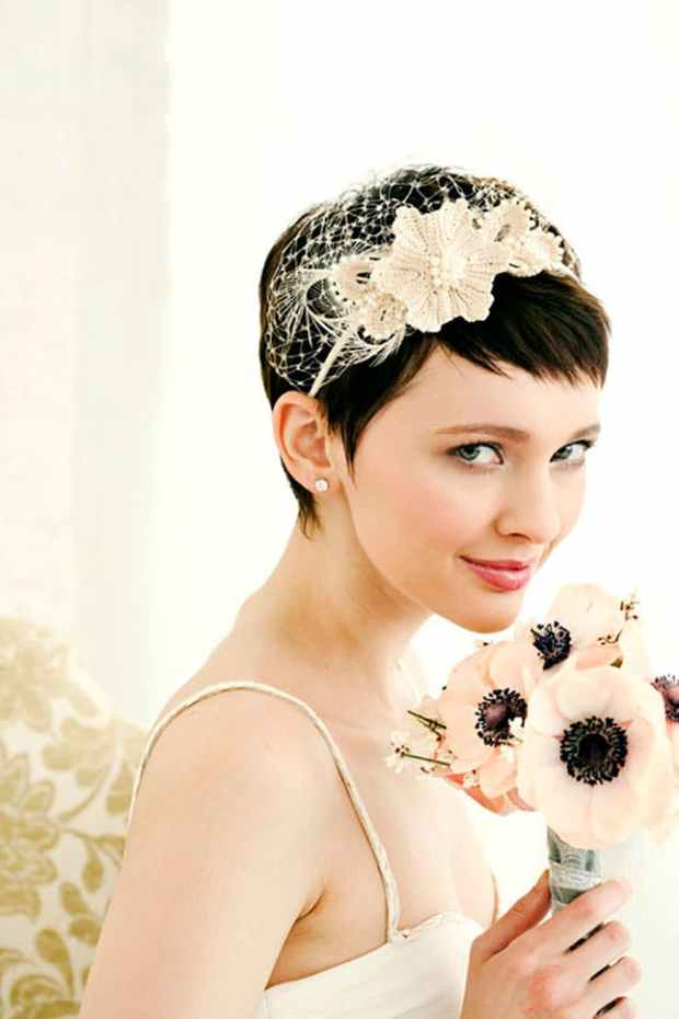 Wedding Hairstyles For Short Hair 24