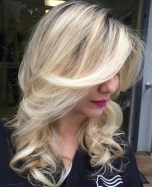 10 Blonde Curly Layered Hairstyle