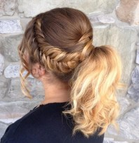 13 Ponytail With Bouffant And Side Fishtail