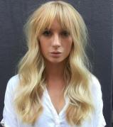 3 Long Blonde Hairstyle With Bangs