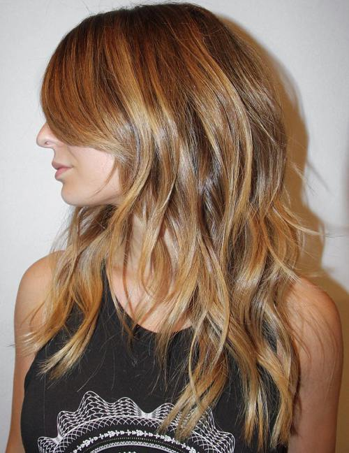 3 Long Layered Golden Blonde Hairstyle