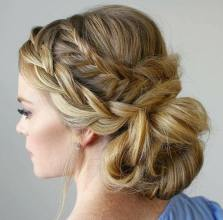 3 Two Braids And Low Bun Updo