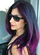 6 Black Hair With Purple Highlights
