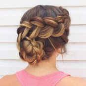 8 Braided Updo For Prom