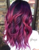 8 Burgundy Balayage For Black Hair